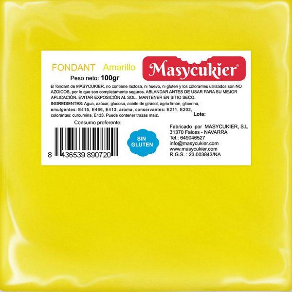 Fondant amarillo 100gr