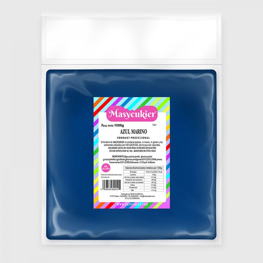 Fondant Azul Marino 1Kg
