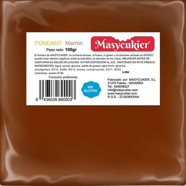 Fondant color marrón 100gr
