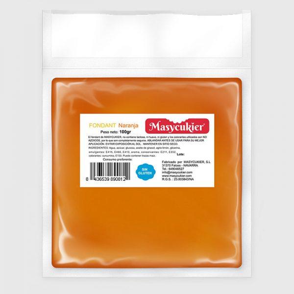 Fondant 100gr naranja