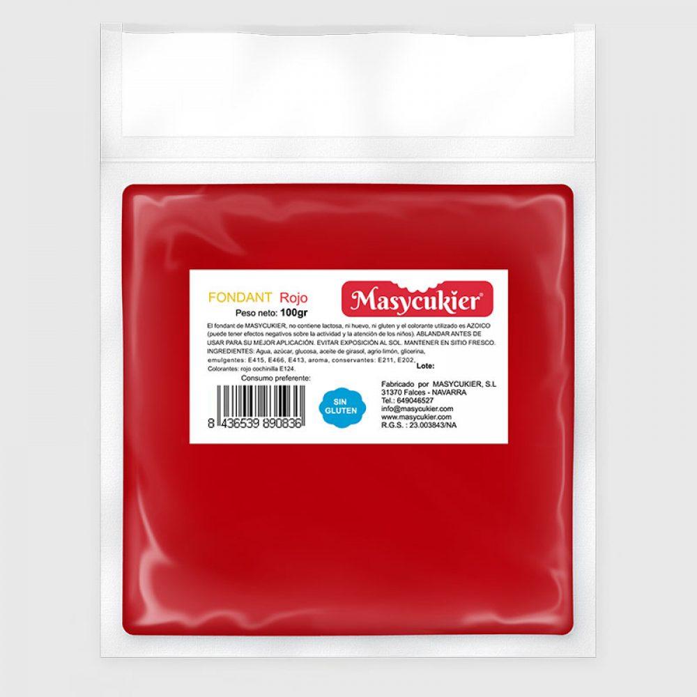 Fondant 100gr Rojo