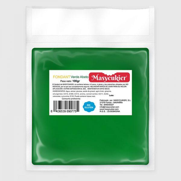 Fondant 100gr verde abeto