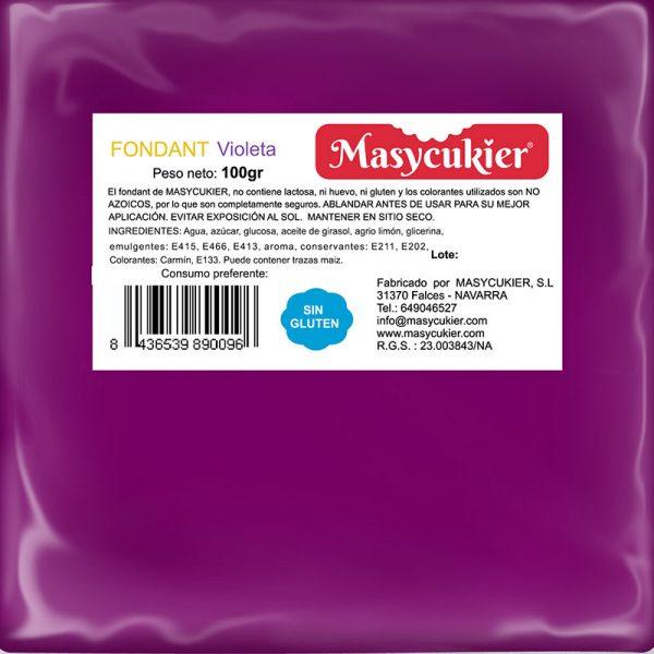 Fondant violeta 100gr