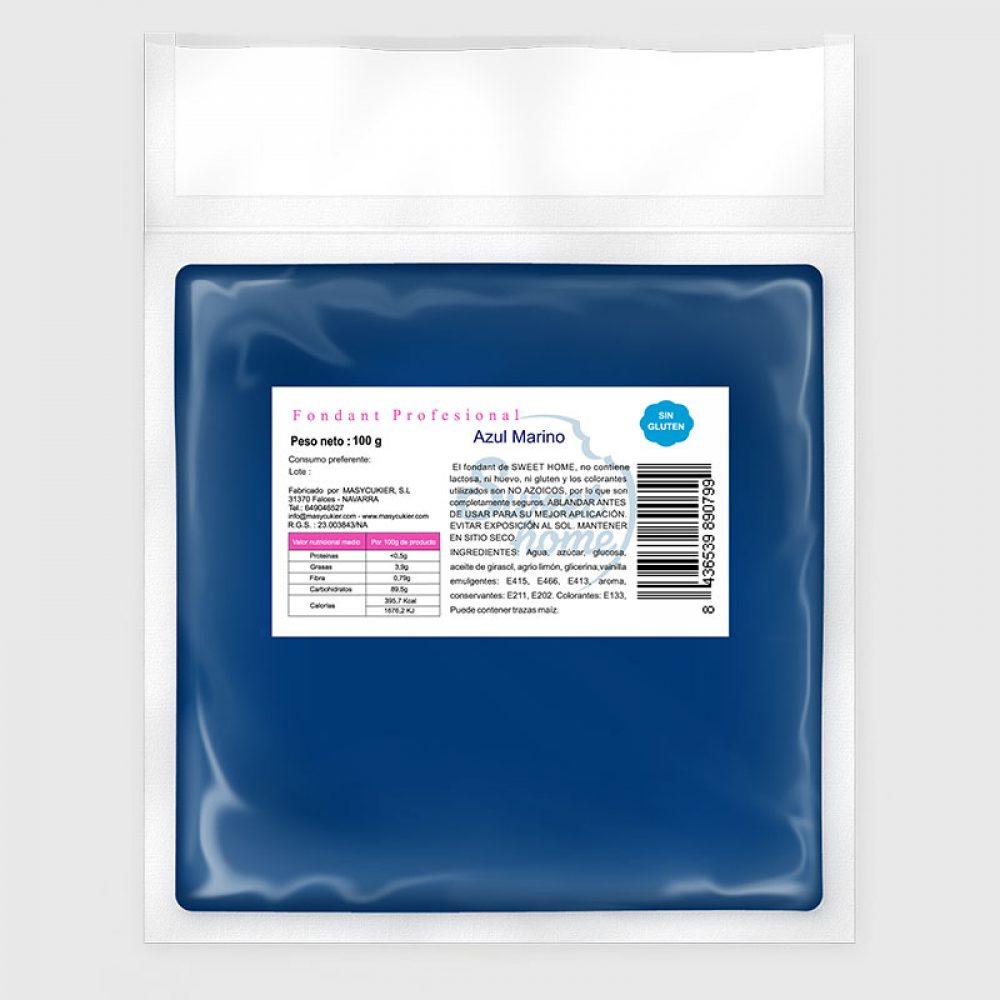 100gr Fondant Sweet Home Azul Marino