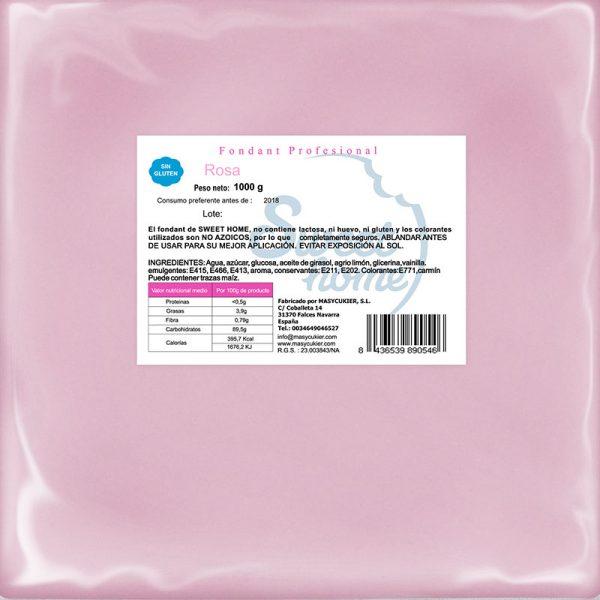 1Kg fondant rosa